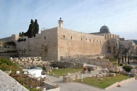 Al Aqsa Mosque, on the Temple Mount in Jerusalem, facing Northeast