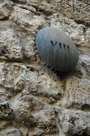 Marker of the 8th Station of the Cross, Via Dolorosa