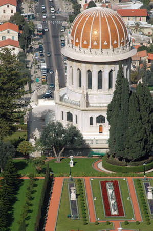 The Shrine of the B�b on Mount Carmel in Haifa, Israel