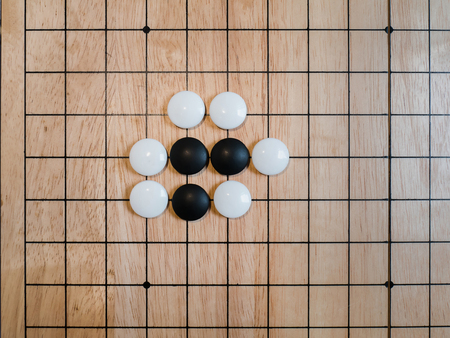 rule of Go game(Weiqi),Atari position,Traditional asian strategy board game