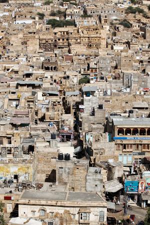 view of the city's neighborhoods of Jaisalmer taken in India in November 2009