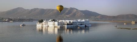 Panorama from the palace Jal Mahal (Water Palace), Jaipur, Rajasthan, India Stock Photo