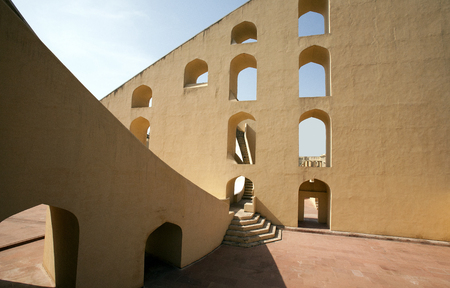 giant sundial of the Jantar Mantar Observatory in Jaipur, India