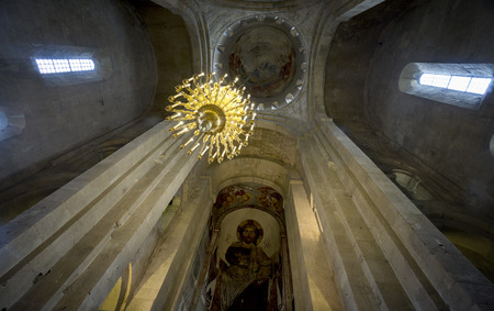 interior of Svetitskhoveli Cathedral in Mtskheta, Georgia 에디토리얼
