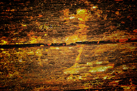 The old wood texture with natural patterns and cracks on the surface as background Stock Photo