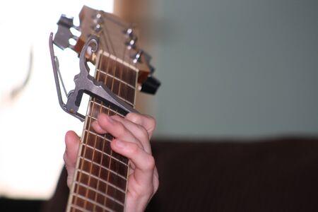 fingering: Guitar Fingering Stock Photo