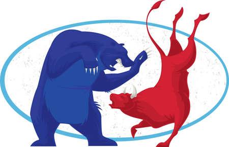 bull's eye: Bull and Bear - Stock Market