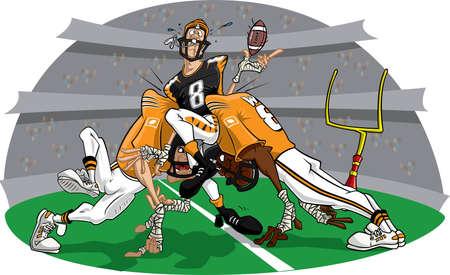 Rush in American Football game #3 Stock Photo