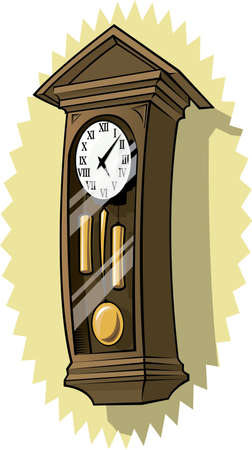 Grandfather clock on wall