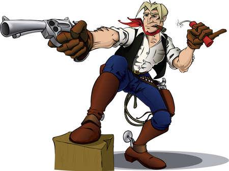holster: Cowboy hero Stock Photo