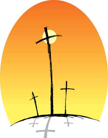Crosses (three) Stock Photo