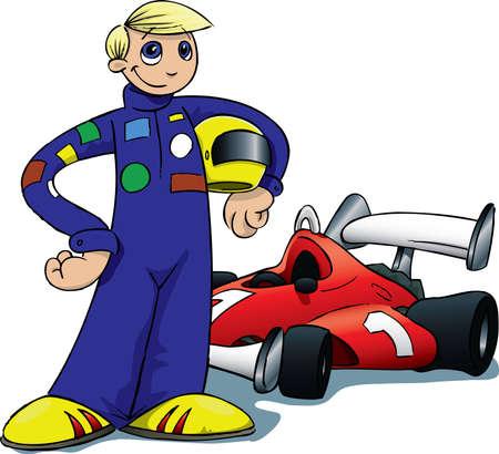 car seat: Boy Race Driver