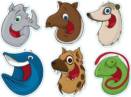Smiling Face Fridge MagnetStickers #7 (Animals)