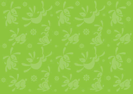 Easter bunny background pattern