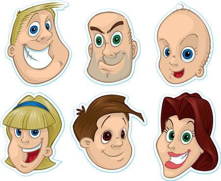 caricaturas de personas: Rostro sonriente Frigor�fico Magnet  Pegatinas # 1