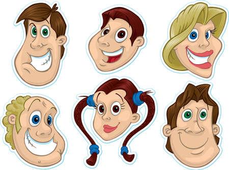 caricaturas de personas: Rostro sonriente Frigor�fico Magnet  Stickers # 2