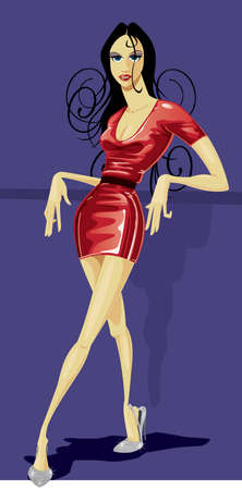 Fashion Figure in Latex dress photo