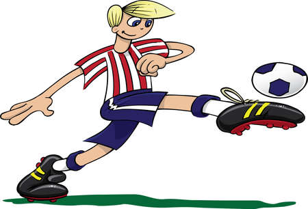 cleats: Young boy playing football