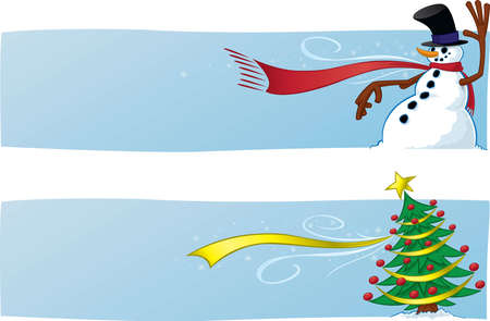Two Christmas Banners