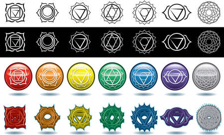 ajna: The seven  chakras Stock Photo