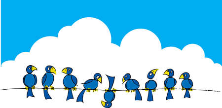 Birds on a wire #2