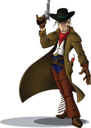 leather coat: Gunslinger Cowboy
