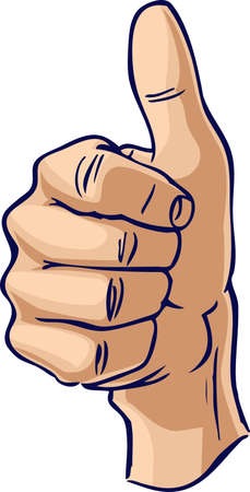 Thumbs up hand gesture Stock Photo - 3393790