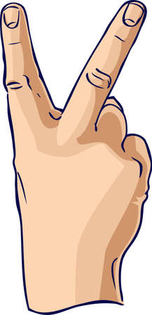 The 'V' Hand Gesture Stock Photo - 3393791