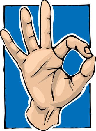 Hand in OK/Kinesiology gesture Stock Photo - 3413612