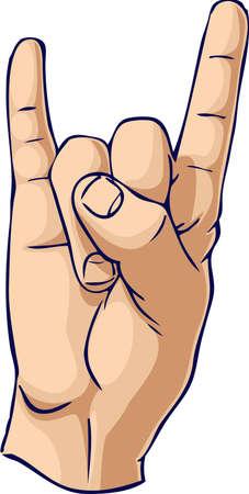 Bull Horn hand gesture Stock Photo - 3413616