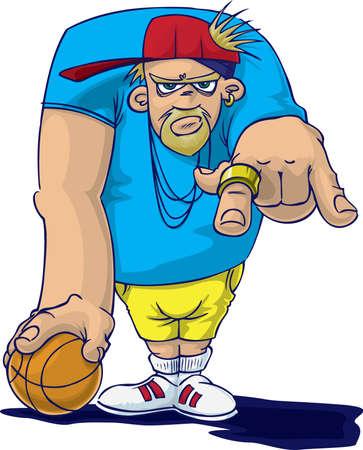 caricature: Hip-Hop crew Stock Photo
