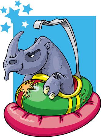 airbag: Rhino in bumper car