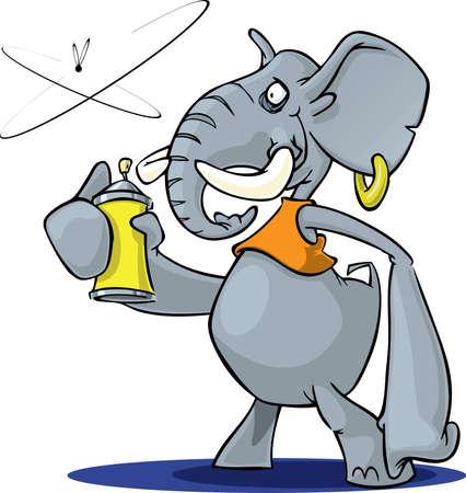 spray can: Elephant with Spray Stock Photo
