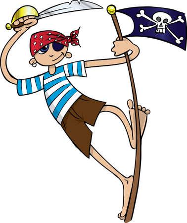metal pole: Boy pirate