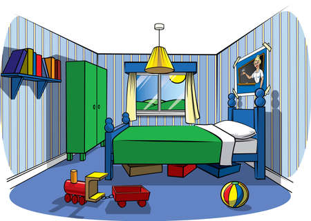 Childrens bedroom Stock Photo