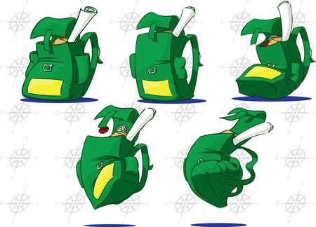 rucksacks: Rucksacks with personality Stock Photo