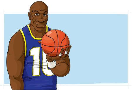 wristband: Basketball player with ball Stock Photo