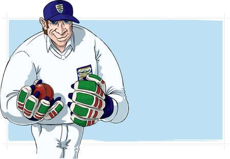 Cricket player Stock Photo - 3441164