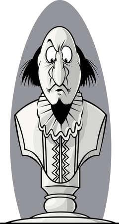 scowl: Shakespeare bust