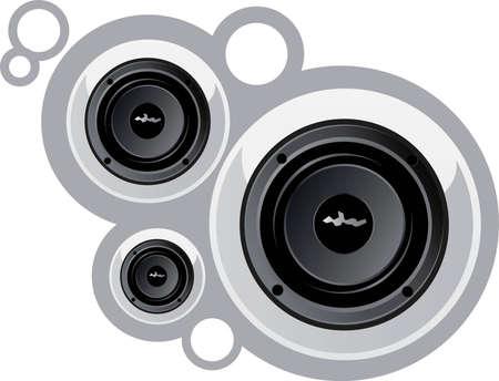 White shiny speakers