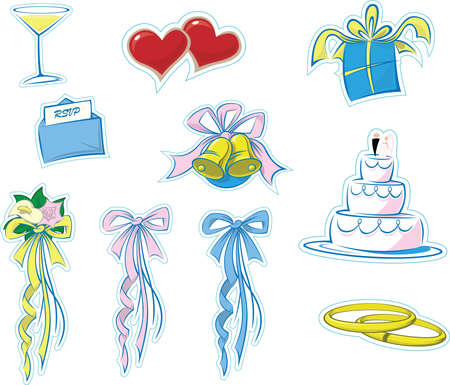 Simple Wedding Icons  photo