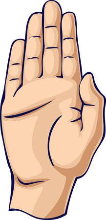 Halt/Stop hand gesture Stock Photo - 3483273