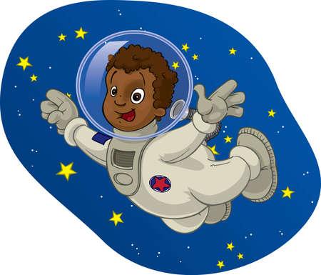 Space Kid #4 Stock Photo