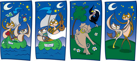 money cat: The Owl and the Pussycat (secciones)