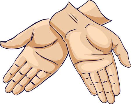 Hands crossed down Stock Vector - 10250978