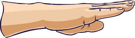 Hand lying flat Stock Vector - 10250974