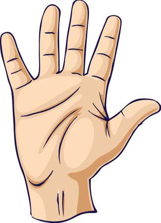 плоть: Рука, поднятые в открытом жест рукой Иллюстрация