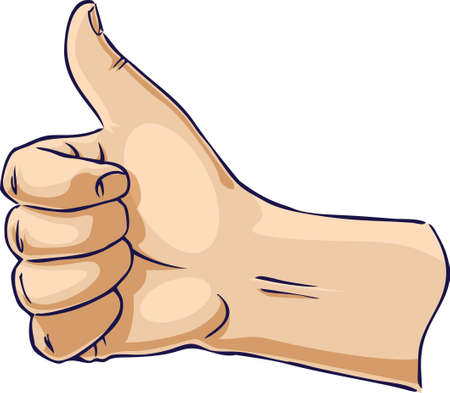 sign ok: Hands showing thumb up from side
