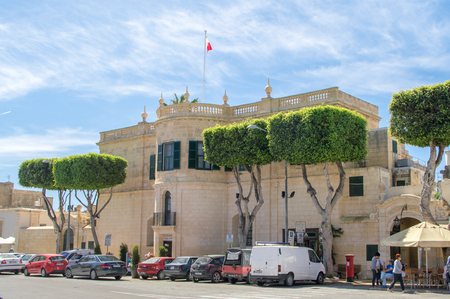 minister: Rabat, Malta - May 8, 2017: Ministry for Gozo building.