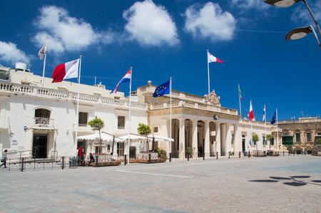 former: Valletta, Malta - May 9, 2017: St. Georges Square Misrah San Gorg.